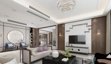 南京香山庄园550平新中式装修效果图