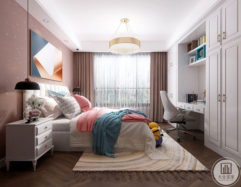 每个女孩都是家里的小公主,粉色雪花的墙面墙纸,让孩子生活在彩色梦幻的空间,编织孩童的美好梦想。