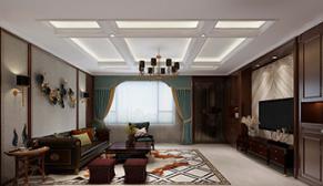 南京路易庄园300平美式风格装修效果图