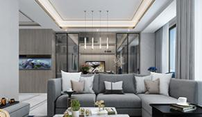 南京蓝光黑钻公馆140平现代风格装修效果图
