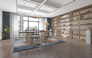 南京江宁谷里自建别墅400平新中式风格装修效果图