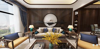 南京路易庄园300平现代中式风格装修效果图