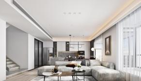 南京新城璞樾和山164m²上叠现代简约装修风格