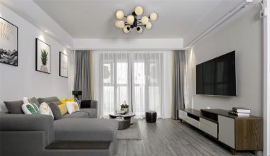 南京万达茂126m²北欧风装修风格