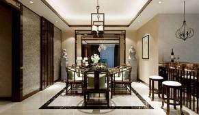 南京高科荣境178平新中式风格装修效果图
