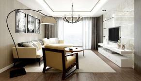 南京景枫法兰谷135平现代简约风格装修效果图