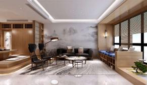 南京远洋国际中心224平现代日式风格装修效果图