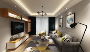 南京中电颐和府邸128平现代简约风格装修效果图