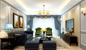 南京雅居乐滨江国际178美式风格装修效果图