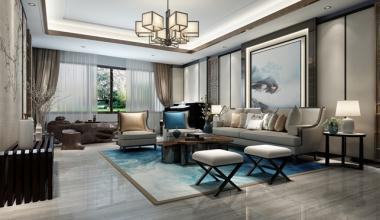南京珍珠泉9号268平新中式风格装修效果图