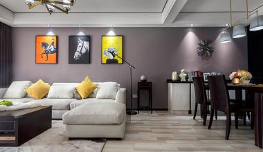 南京翠屏国际城105平现代风格装修效果图